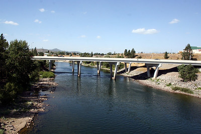 Spokane river. I90 Bridge going over the river. Sept 2010