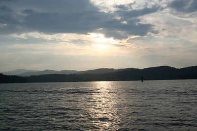 Lake Coeur d' Alene at sunset