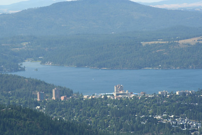 View of the CDA Resort from Canfield Mt.
