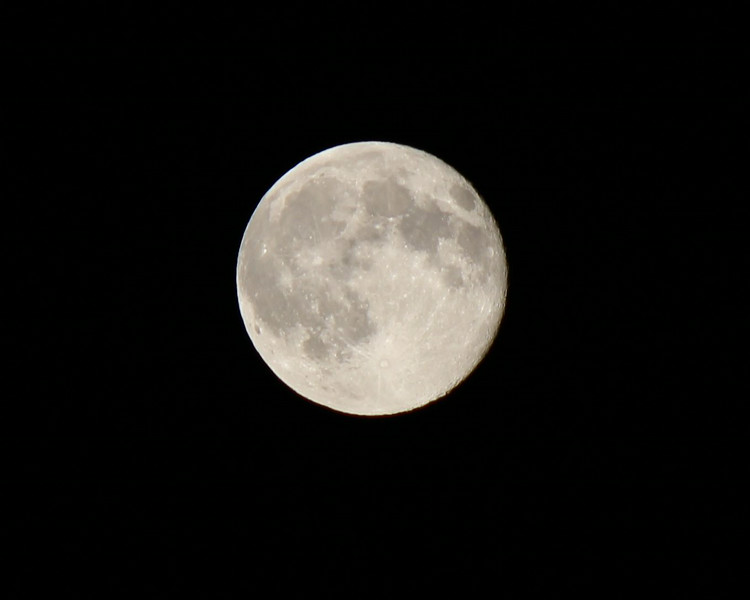 There was a super moon on July 12, 2014.  I was able to take this really good shot of it. With a little coaching from Uncle Mike.
